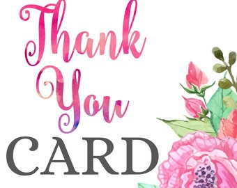 Matching Printable Thank You Card • Add-on to your Invitation Order