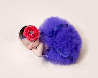 PURPLE TUTU SET, Newborn Purple Tutu, Purple Tutu, Newborn Tutu, Baby Tutu, Newborn Photography Prop, 1st Birthday Tutu set, Baby Tutu Set