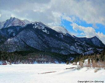 Colorado Rocky Mountain Winter Landscape 11x14 Limited Edition Print