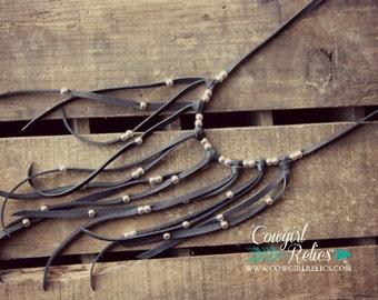 Western Necklace-Fringe Necklace-Boho Gypsy Fringe Necklace