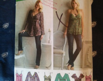Simplicity 3956 Misses Top Sized 12-20 Gently Used Sewing Pattern