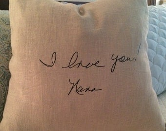 Custom Signature Handwriting Pillow Cover