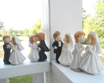 Cake Toppers / Rehearsal Decor / Table top Wedding decor / Bride and Groom Grab Bag
