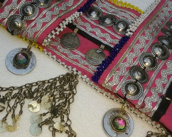 Pink Handmade Tribal dance belt