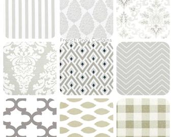 Gray curtains, Custom Curtain panels, French Gray Curains - Window Curtains - Curtain Panels - Custom Drapes - Drapery panels - Drapes