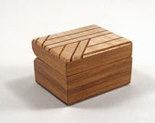 Handmade Exotic Wood Double Ring Box --  Black Walnut, Curly Maple (RB2969)