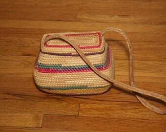 1950's Woven Basket Shoulder Bag