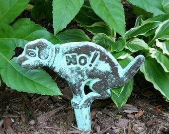 NO Dog Poop Sign - Outdoor Decor - Funny Gag Gift - Garden Decoration - Yard Sign - Cast Iron Sign - Dog Sign - No Dogs Sign - Lawn Ornament