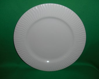 "One (1), 10 1/2"" Dinner Plate, from Gibsons Designs, in the Seacrest Pattern."