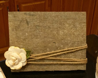 Wood crafted picture frame holds 3X5 photo