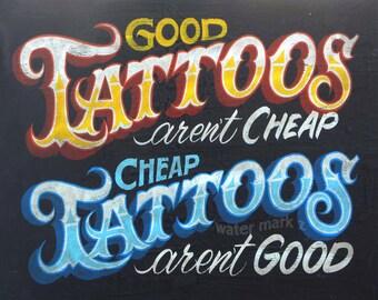 Tattoo Shop Policy  Print  ,art