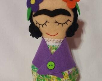 Felt and Fabric Frida Doll