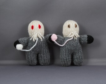Ood, Doctor Who, Hand Knitted Toy, Monster, Plush