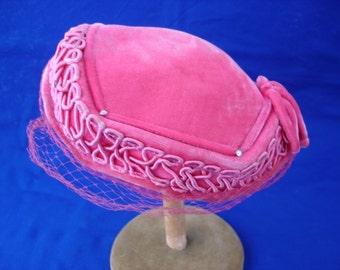 Pink Velvet Hat