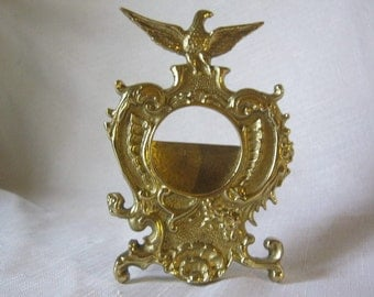 Vintage Brass Pocket Watch Holder From Virginia Metal Crafters