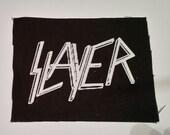 SLAYER PATCH - Black Canvas Metal Patch