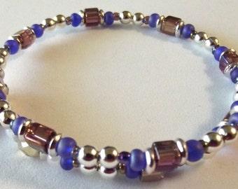 Purple Rosary Bracelet