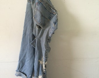RESERVED!!!!!! Vintage levis ripped destroyed****