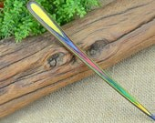 ONSALE 20%OFF: OriginalFire Handcarved Colorful Wood Hair Stick / Hair Pin / Hair Fork