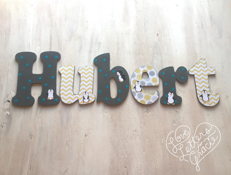 Custom Boy's Letters Baby Boy's Nursery Letters