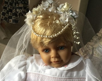 First Holy Communion Veil and wreath
