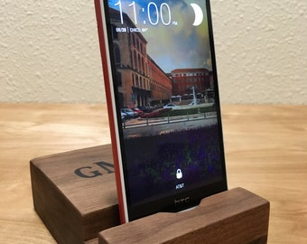 iPhone Docking Station | Wood Docking Station for iPhone 4, 5, 6, 6 Plus, 7 & 7 Plus | FREE ENGRAVING Dock for any Smartphone Christmas Gift