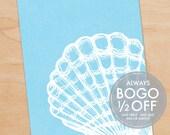 Ocean Scallop Shell Print, Large Canvas, Ocean Print, Ocean art, Beach Art, Nautical Art, Ocean Decor, Beach Decor, Beach House, Home Decor