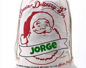 Personalized and Monogrammed Christmas Sacks/Santa Sacks/Gift Sack/Santa Bag/Christmas Bag/Christmas Gifts/Ready to ship