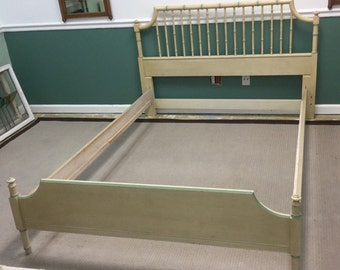 palm beach style faux bamboo full size rare complete bedframe