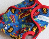 One size cloth diaper cover- POW!