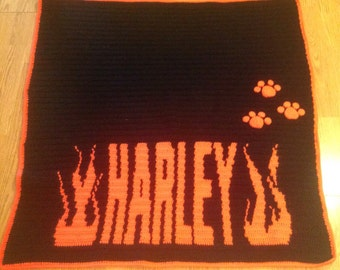 Personalized puppy blanket