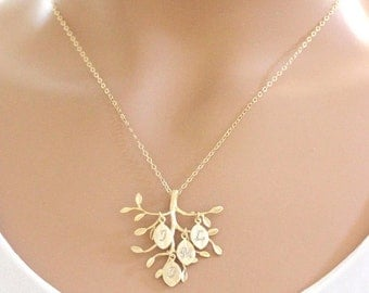 Family Tree Necklace Grandmom Monogram Necklace, Pesonalized Necklace,  Personalized Jewelry, from Daughter Son Husband GIFT