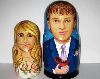 Personalized Wedding gift  Custom nesting doll / by photo