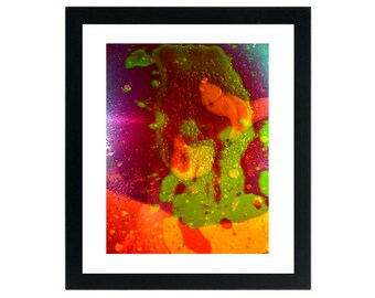 Liquid Light Show Art Print ~ Psychedelic Colorful Rainbow Water & Oil ~ 8.5 x 11 Giclee Prints For Sale