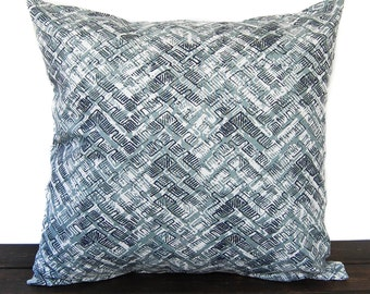 Awesome Throw Pillow Cover Vintage Indigo Navy Light Blue Gray White Cushion Cover  Caldwell Traditional Contemporary Modern