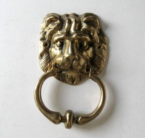Sale large solid brass lion 39 s head door knocker home - Large lion head door knocker ...