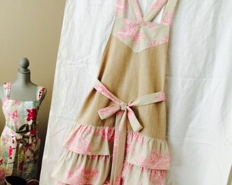 Ladies Ruffle Apron
