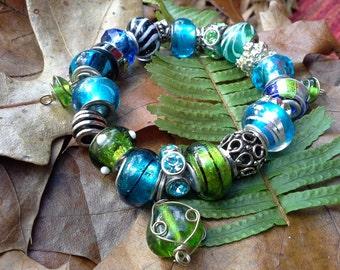 Beautiful lampwork Beaded Bracelet!