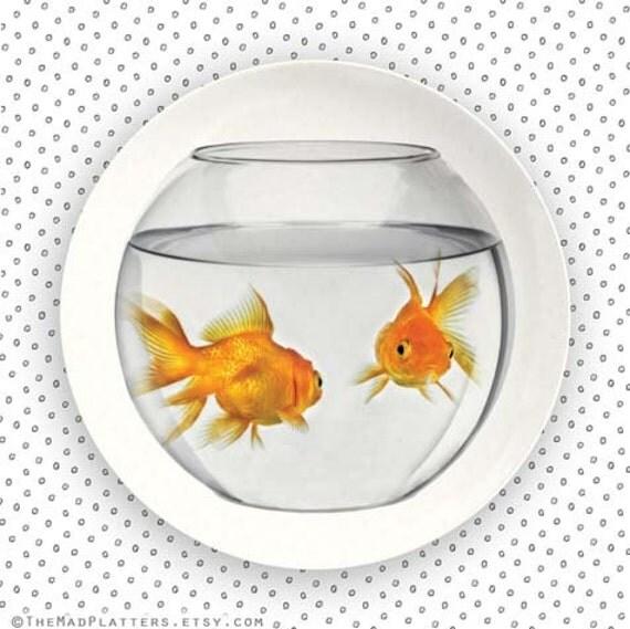 Goldfish Bowl melamine plate