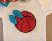 Basketball onesie with bow