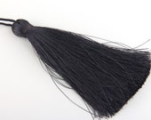 Iron Gray, Large and Thick Silk Tassel- Jewelry Supplies  // TAS-020