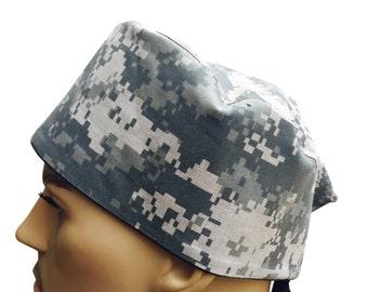 Surgical Scrub Cap - USMC MARPAT Woodland Scrub Hat - Camouflage Scrub Hat - Camo Scrub Cap