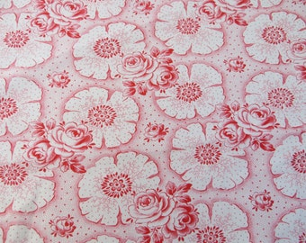 Free Shipping  Duvet Cover Fabric   Cotton  Antique Red  Flowers  Dots  Germany 1920 Bedding Shabby Chic Single Bed Blanket Bespread Vintage