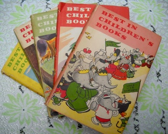 SPRING SALE--Best in Childrens Books, Vintage Books, Classic Books, 1957 and 1959, Five Books, Selling Individually