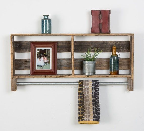 Perfect Rustic Bathroom Shelves Made From Reclaimed By PalletGenesis