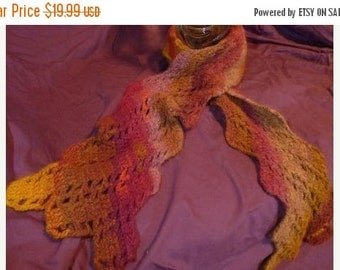 ON SALE Richly Colored Angular Scarf