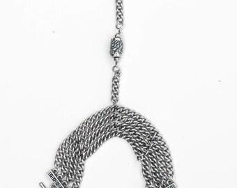 Oxidized Silver Chain Handpiece
