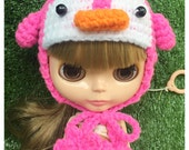 "Neo Blythe Outfit : ""Sweet Penguin Hat"" (Chochet Hat)"