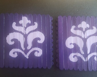 Purple and Lavender (Set of 2)