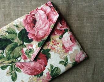 "13 inch laptop case, floral, blossom pattern, eco friendly - ""envelope_roses"""